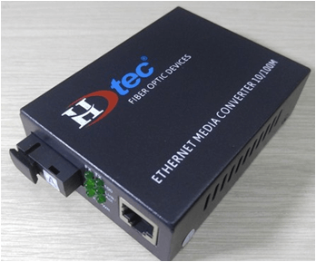 Bộ chuyển đổi Quang HDTEC Converter Quang 1 cổng RJ45 100Mbps