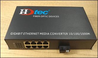 Bộ chuyển đổi Quang HDTEC Converter Quang 8 cổng RJ45 100Mbps